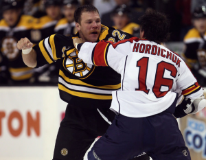 Shawn Thornton has logged nearly ten times the penalty minutes as he has points in his career